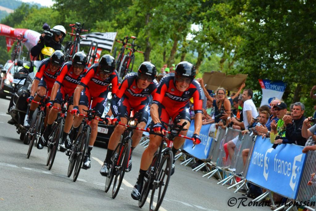 L'équipe BMC avait remporté le contre-la-montre lors du Tour de France. ©Ronan Houssin