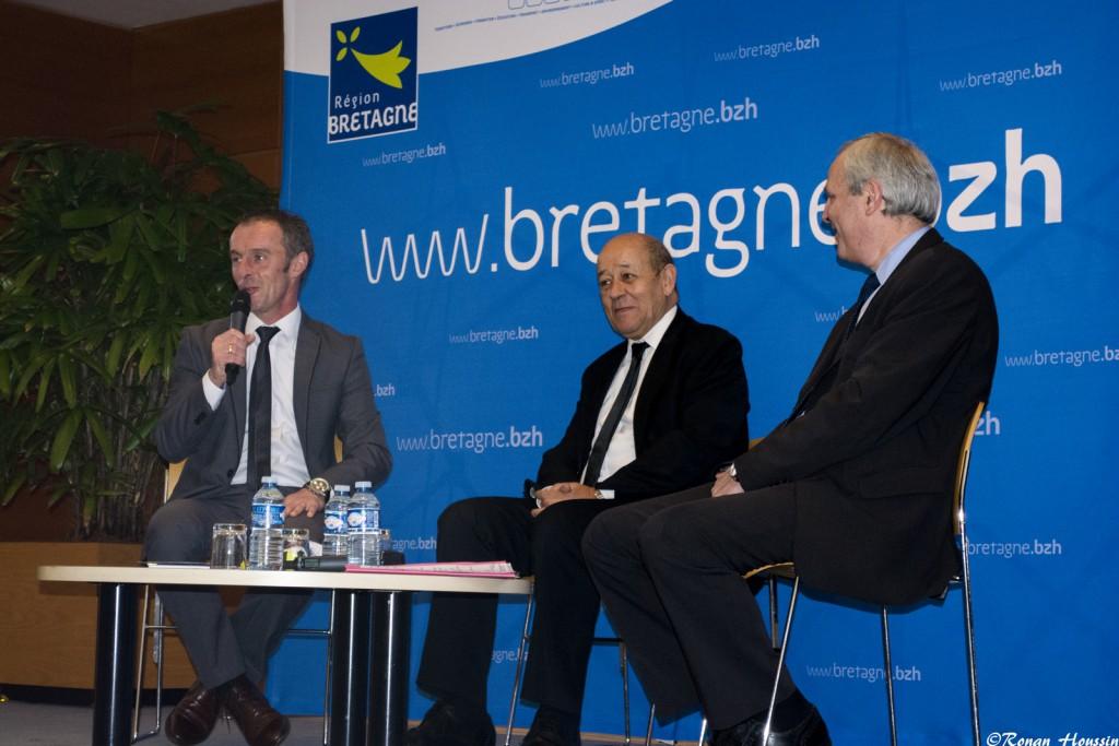 Jean-Yves Le Drian était présent à Rennes pour la présentation du Tour de Bretagne.