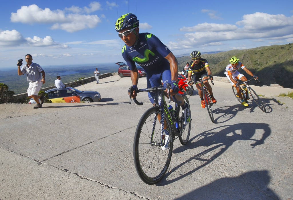 Tour de San Luis 2015 - 4a tappa Villa Dolores - Alto El Amago km 142,5 - 21/01/2015 - Nairo Quintana (Movistar) - foto Roberto Bettini/BettiniPhoto©2015