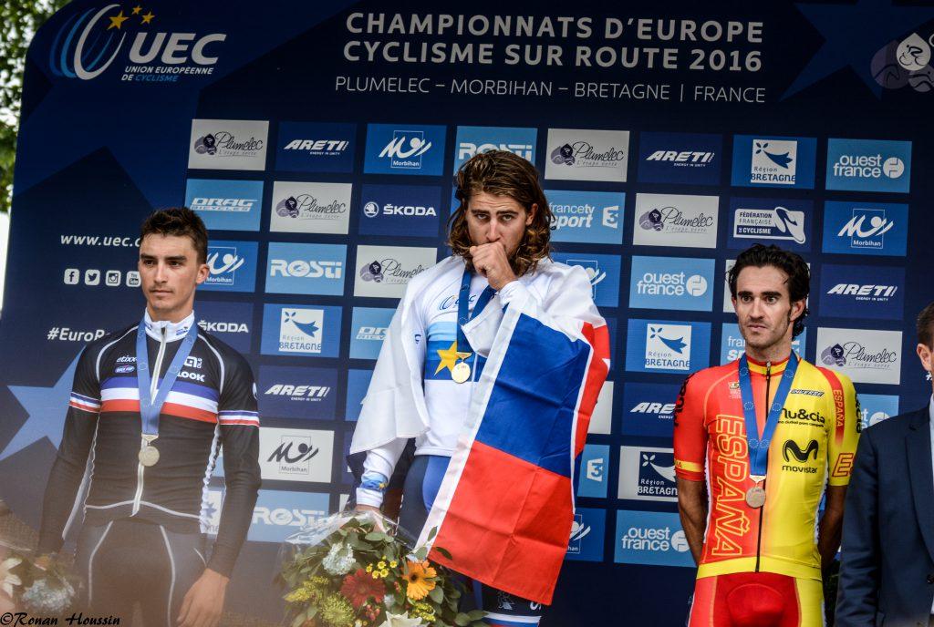 Peter Sagan (Slovaquie) a décroché le titre de champion d'Europe devant Julian Alaphilippe (France) et Daniel Moreno (Espagne).