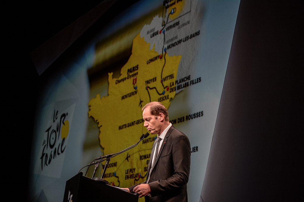 Le parcours du Tour de France a été présenté ce mardi matin à Paris. © Ronan Houssin